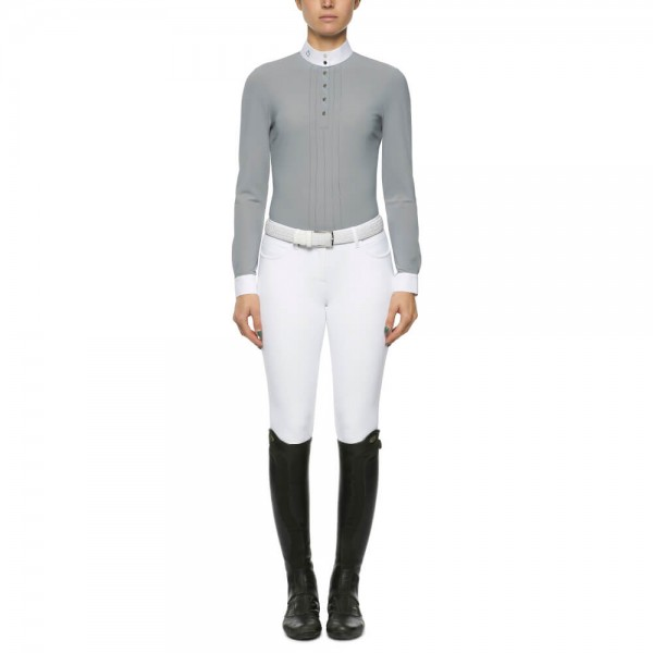 Cavalleria Toscana Competition Shirt Women's Pleated Jersey FS21, long sleeve