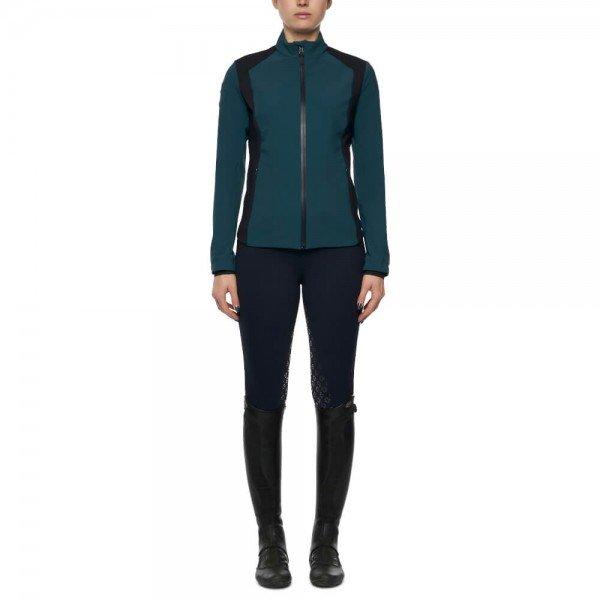 Cavalleria Toscana Jacket Ladies Piquet/Jersey Bonded With Lightweight Fleece Jacket, FS21