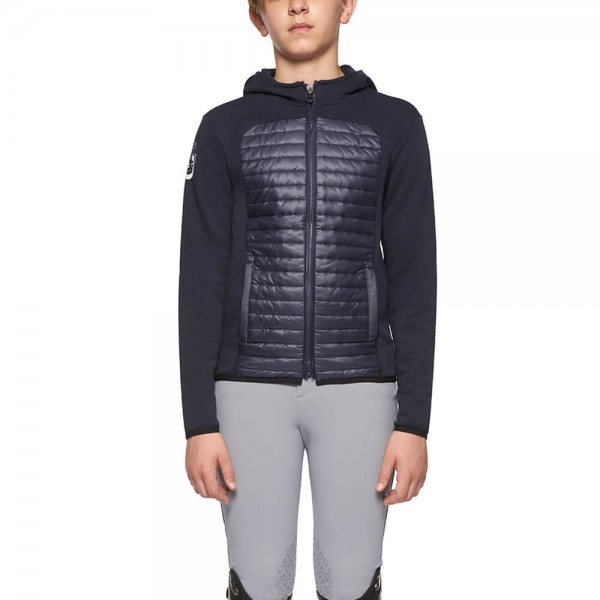 Cavalleria Toscana Jacket Kids Quilted Nylon Hooded Zip Jacket FS21