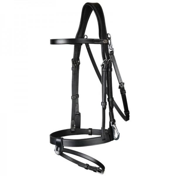 Dyon Flat Leather Bridle with Snap Hooks WC