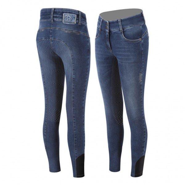 Animo Women's Breeches Neona FS21, Full Seat, Full Grip, Jeans