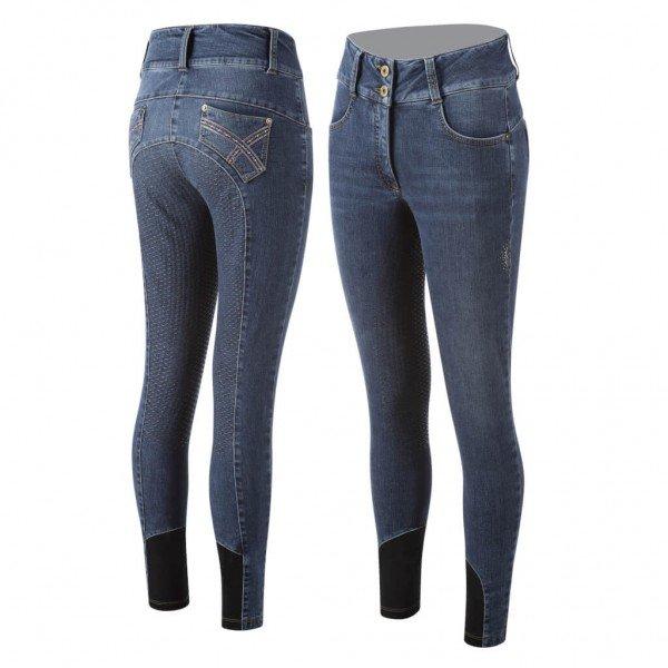 Animo Breeches Women's Nilly HW21, Full Seat, Full Grip, Jeans