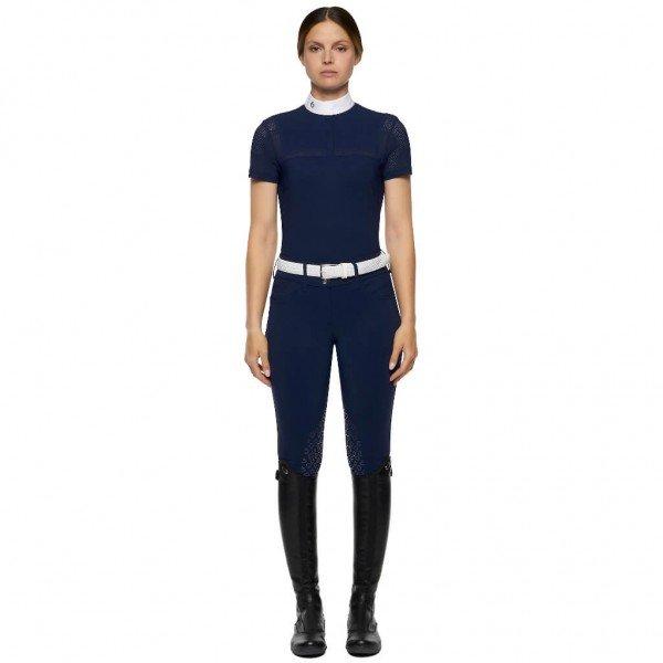 Cavalleria Toscana Women´s Show Shirt Jersey S/S Shirt w/Perforated Insert HW21