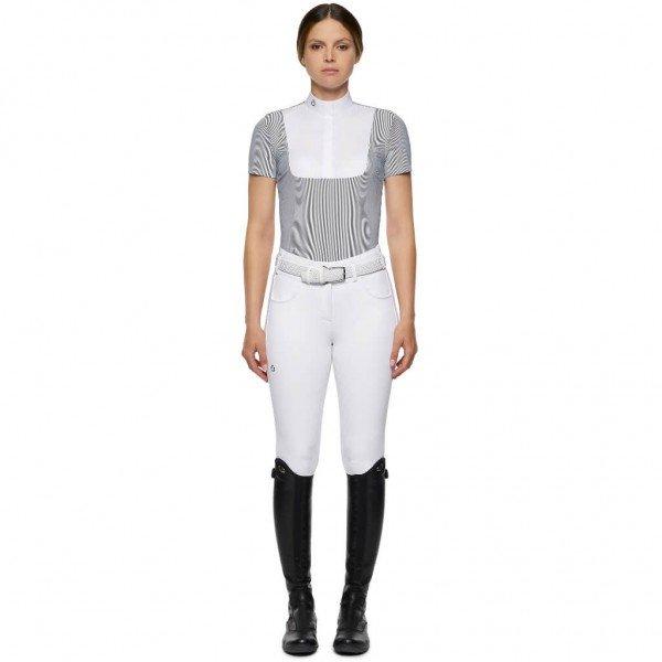 Cavalleria Toscana Women´s Competition Shirt Jersey S/S Competition Shirt w/Poplin Bib HW21