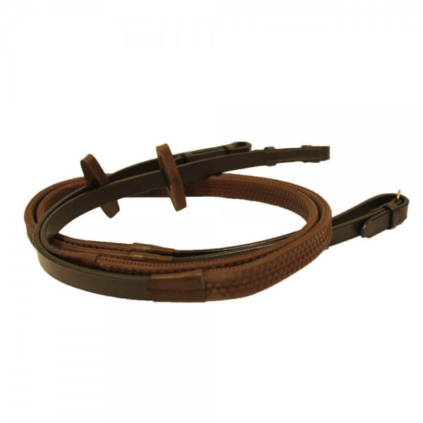 Horseware Rambo Micklem Rubber Reins for Competition Bridle