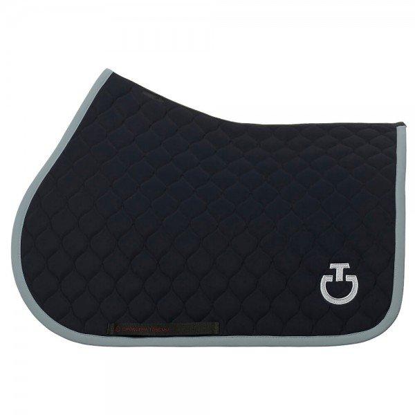 Cavalleria Toscana Saddle Pad Circular Quilted Jumping Saddle Pad HW21, jumping saddle pad