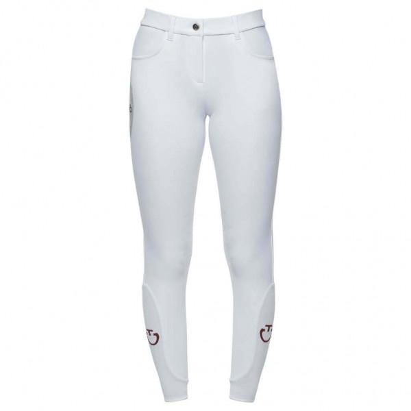 Cavalleria Toscana Girls' Breeches Perforated Print HW21, Knee Patches, Knee Grip