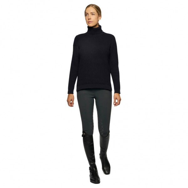 Cavalleria Toscana Sweater Women's Eco Merinos Tutleneck HW21, Turtleneck Sweater
