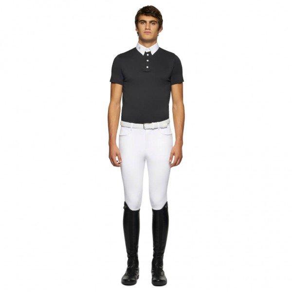 Cavalleria Toscana Competition Shirt Men's Tech Piqué HW21, Competition Polo, Short Sleeve